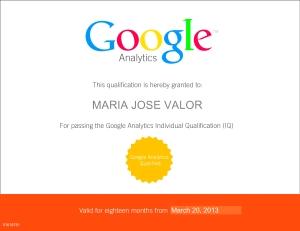 Certificado GoogleIQ